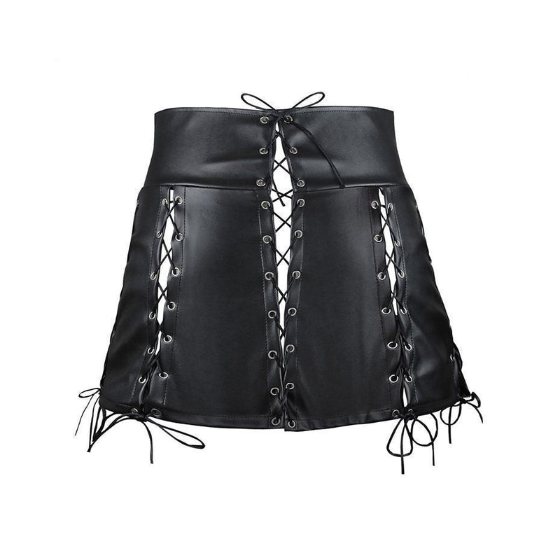 Sexy and Slim Lace-Up Bandage Mini Skirt - The Black Ravens