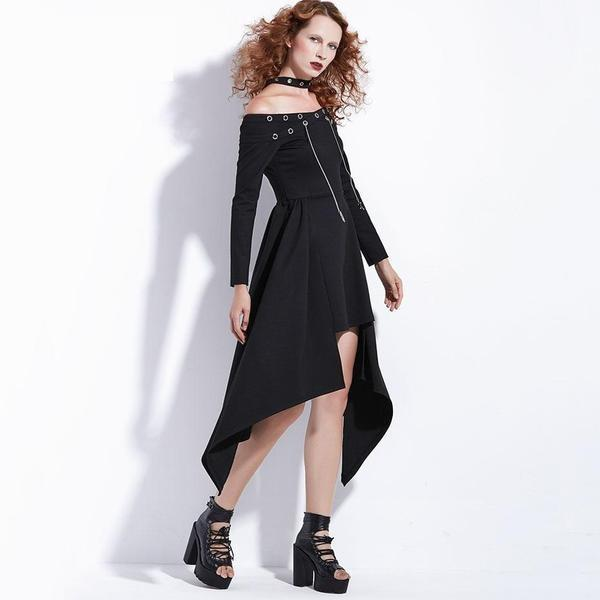 Sexy Asymmetrical Punk Dress-S-