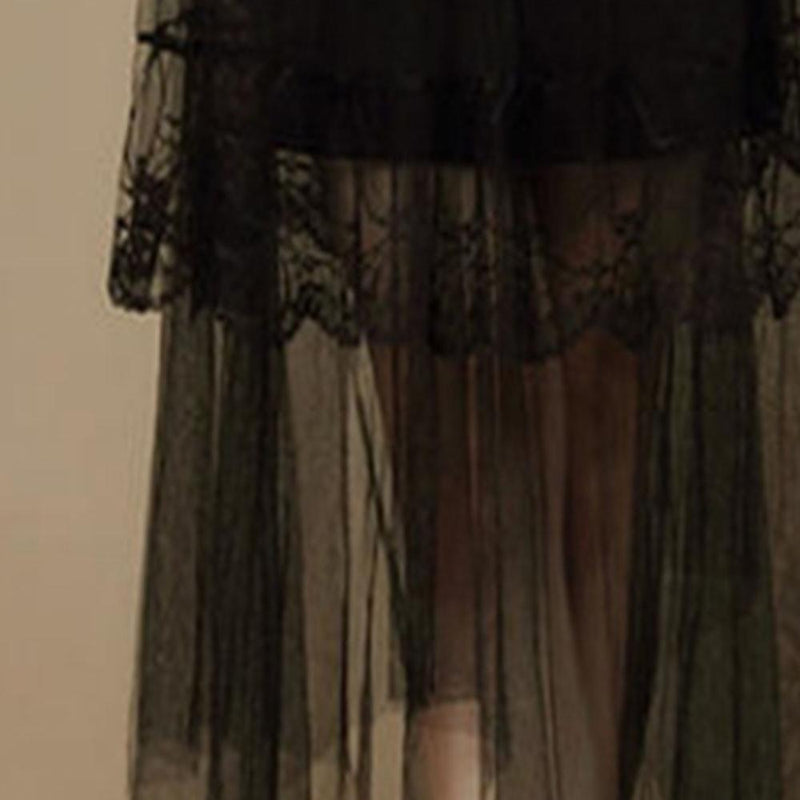 Sexy Asymmetrical Silhouette Gothic Skirt - The Black Ravens