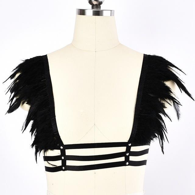Sexy Bare-Bust Ladies' Harness - The Black Ravens