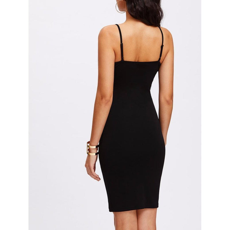 Sexy Black Straps Party Dress - The Black Ravens