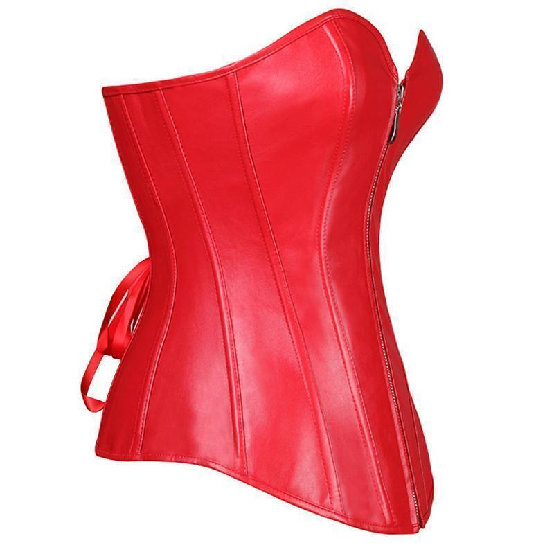 Sexy Blood Red Diana Prince Corsets - Available In Plus Size-Red-S-