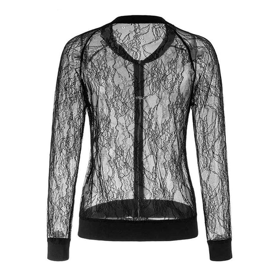 Sexy Casual Lace See-Through Jacket For Women - The Black Ravens