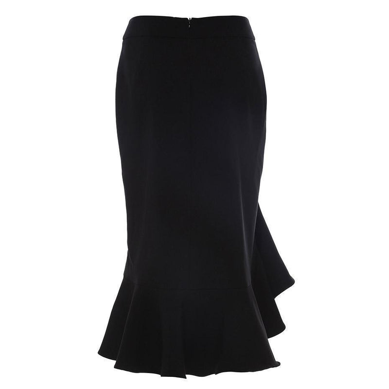 Sexy Casual Office Style Gothic Skirts-Black-S-