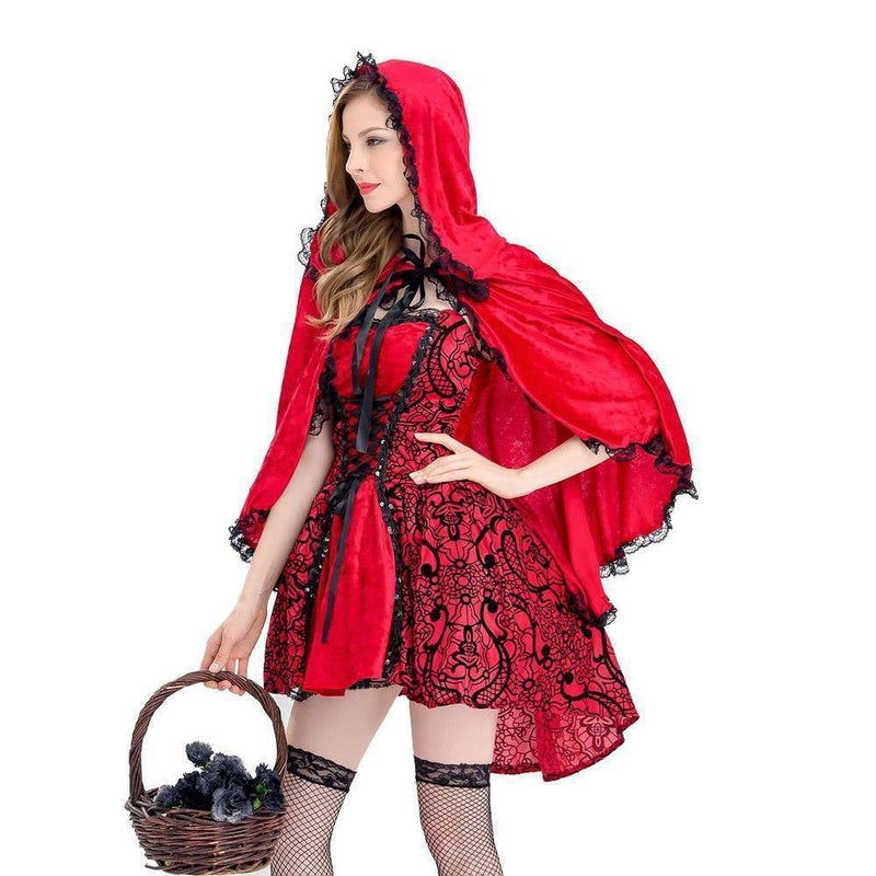 Sexy Cosplay Red Riding Hood-S-
