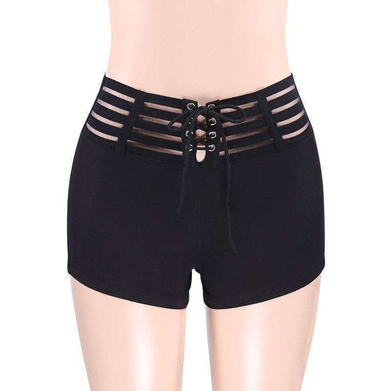 Sexy Drawstring High Waist Bottoms - The Black Ravens