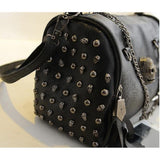 Sexy Faux Leather Skeleton Face Studded Bags-