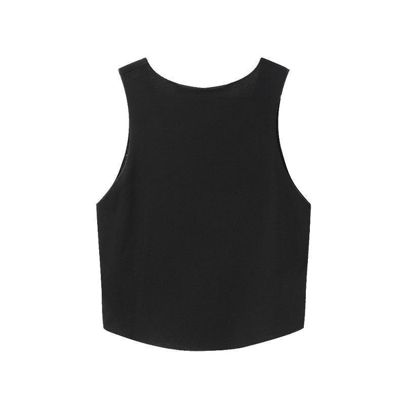 Sexy Girls Yes Daddy Crop Top-Black-S-