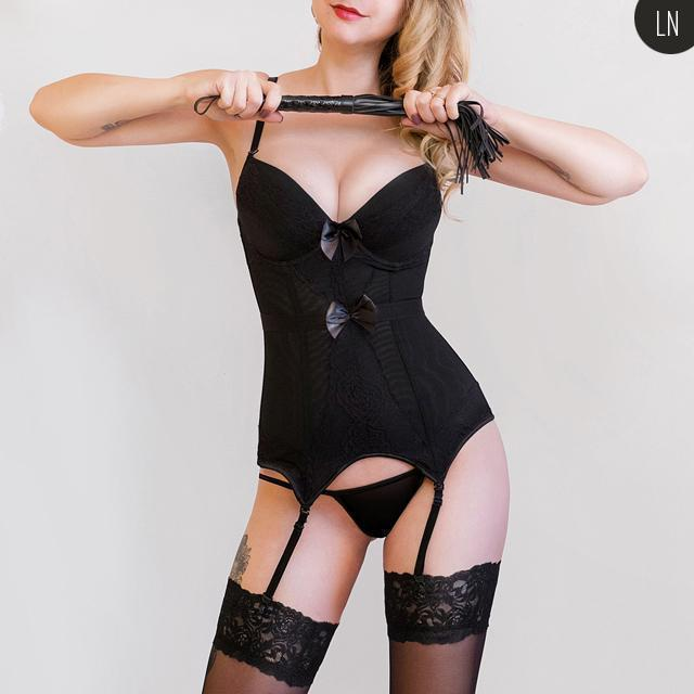 Sexy Gothic Bustier Bow Corset For Women - The Black Ravens