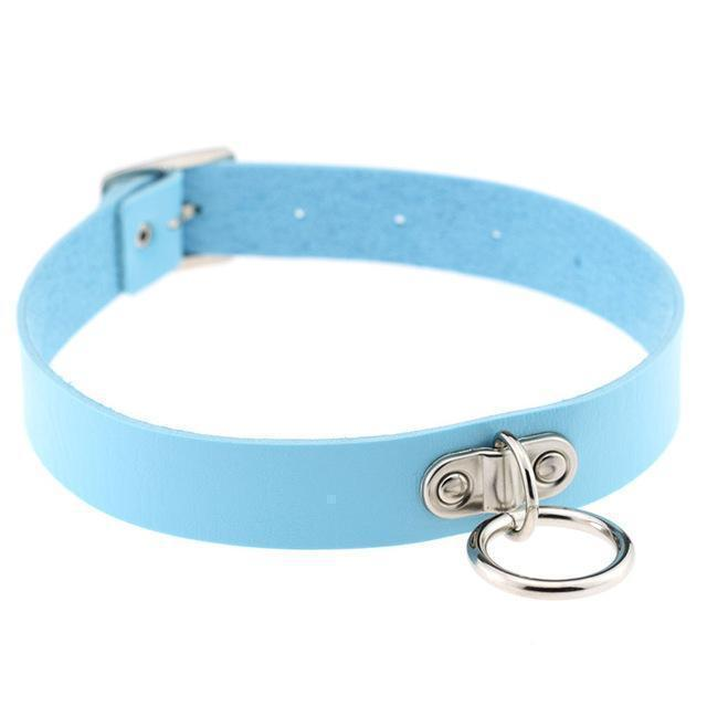 Sexy Ladies Goth Chokers-Blue-