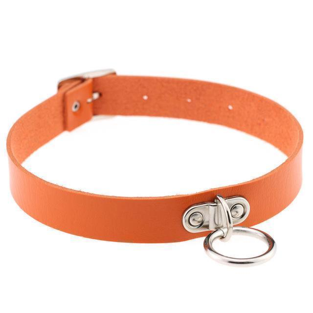 Sexy Ladies Goth Chokers-Orange-
