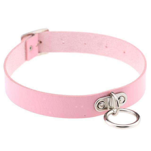 Sexy Ladies Goth Chokers-Pink-