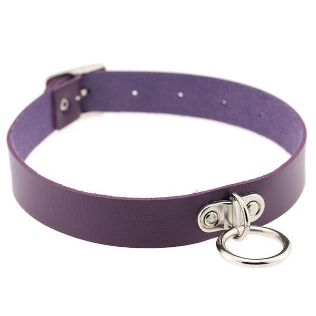 Sexy Ladies Goth Chokers-Purple-