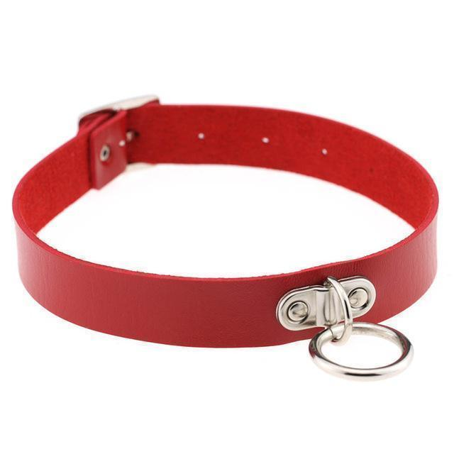 Sexy Ladies Goth Chokers-Red-