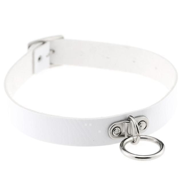 Sexy Ladies Goth Chokers-White-