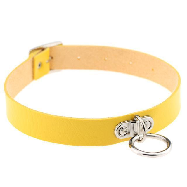 Sexy Ladies Goth Chokers-Yellow-