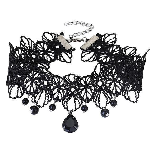 Sexy Ladies Lacey Choke Necklace - Multiple Designs Available-3-