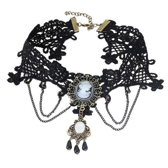 Sexy Ladies Lacey Choke Necklace - Multiple Designs Available-6-