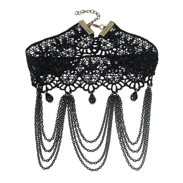 Sexy Ladies Lacey Choke Necklace - Multiple Designs Available - The Black Ravens