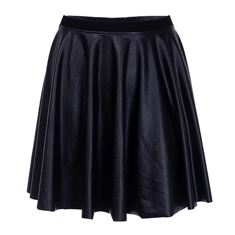 Sexy Leather Top Skirt Set - The Black Ravens