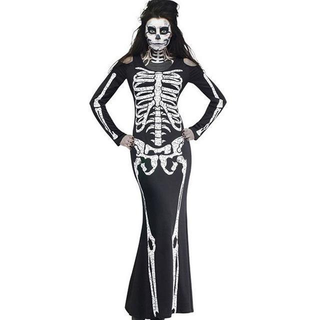 Sexy Skeleton Lady Mermaid Dress-S-