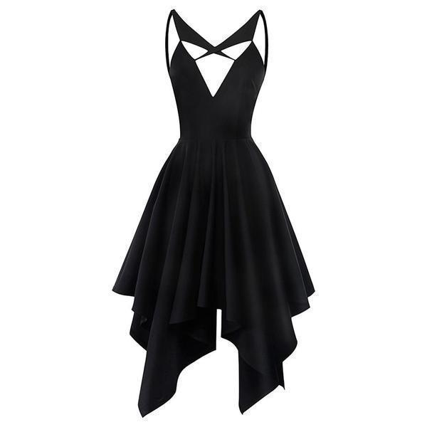 Hollow Chest Black Bodycon