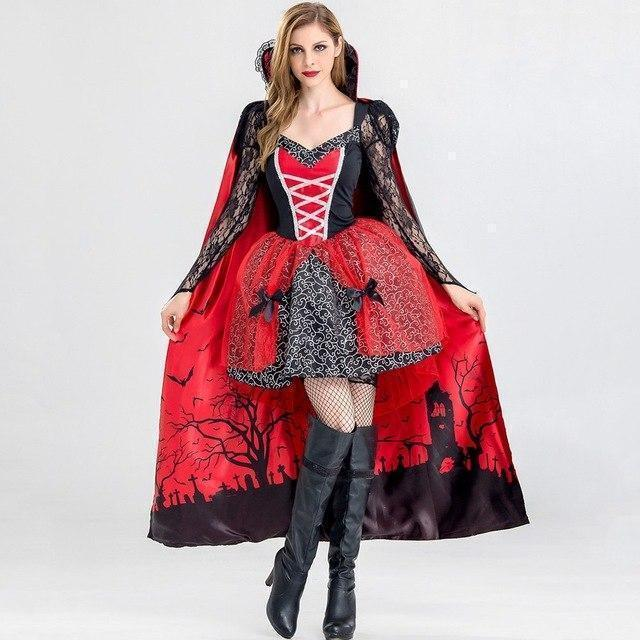 Sexy Vampire Halloween Costume Dress - The Black Ravens