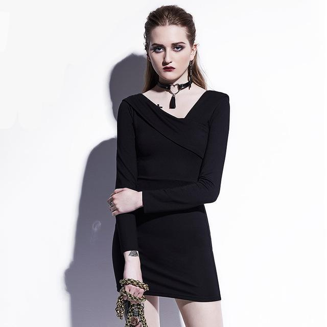 Short Black Skater Gowns For Women - The Black Ravens