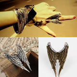 Silver And Bronze Wing Bands For Women-Antique Bronze Plated-
