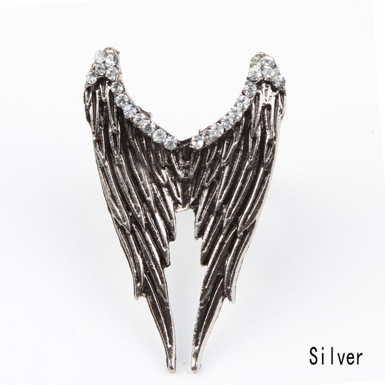 Silver and Bronze Wing Bands For Women - The Black Ravens