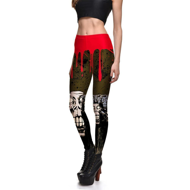 Skeleton Blood Legging-Black-S-