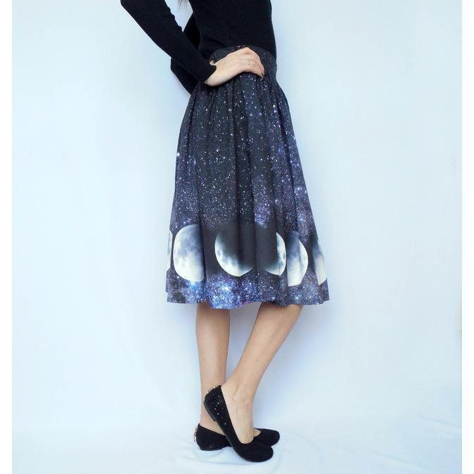 Solar Print Pastel Goth Skirt - The Black Ravens