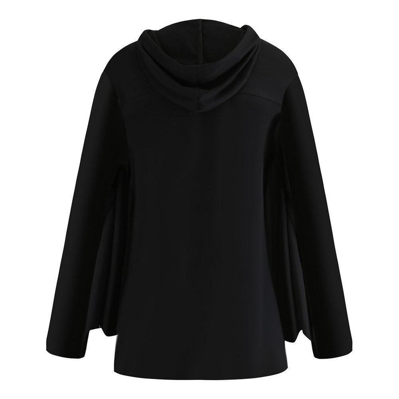 Spider Print Plus Size Hooded Pullover - The Black Ravens