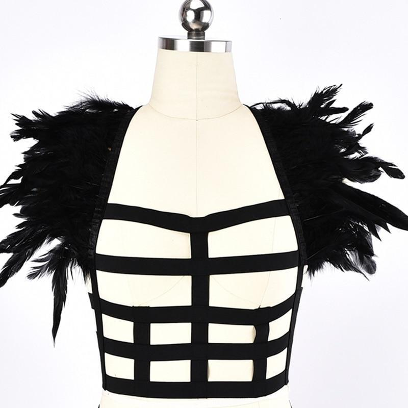 Square Pattern Elastic Bust Cage-