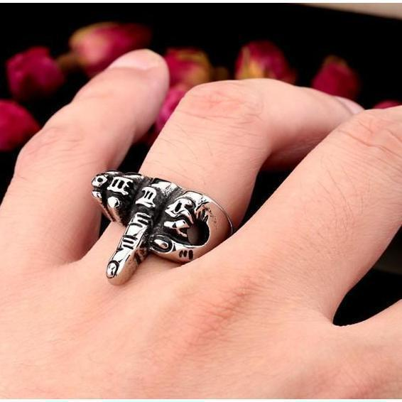 Stainless Steel Middle Finger Ring-7-