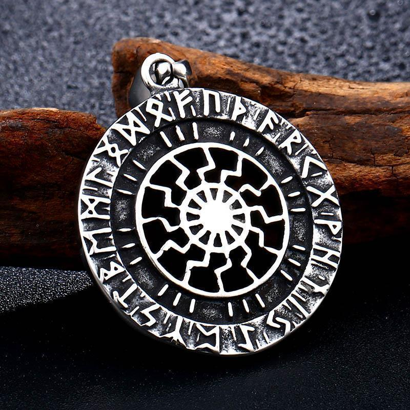 Stainless Steel Norse God Amulet - The Black Ravens