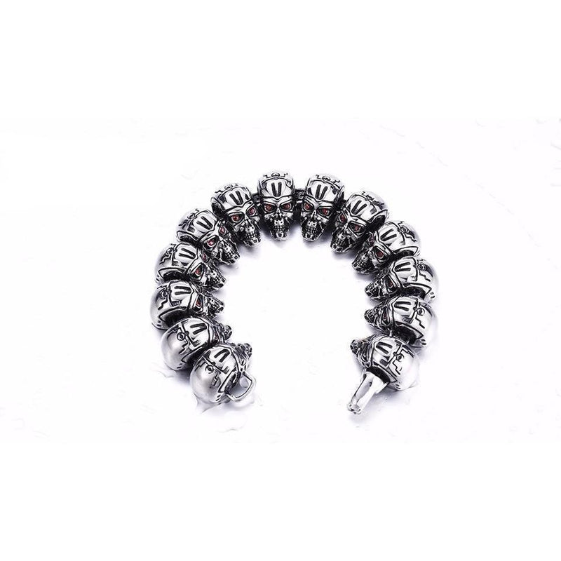 Stainless Steel Robot Skull Bracelet For Men - The Black Ravens