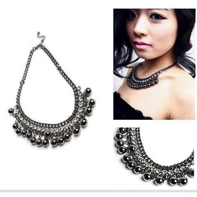 Stunning Ball Crystals Choker Pendant Chokers - The Black Ravens