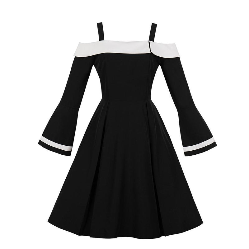 Stunning Bare Shoulder Gothic Vintage Dress-S-
