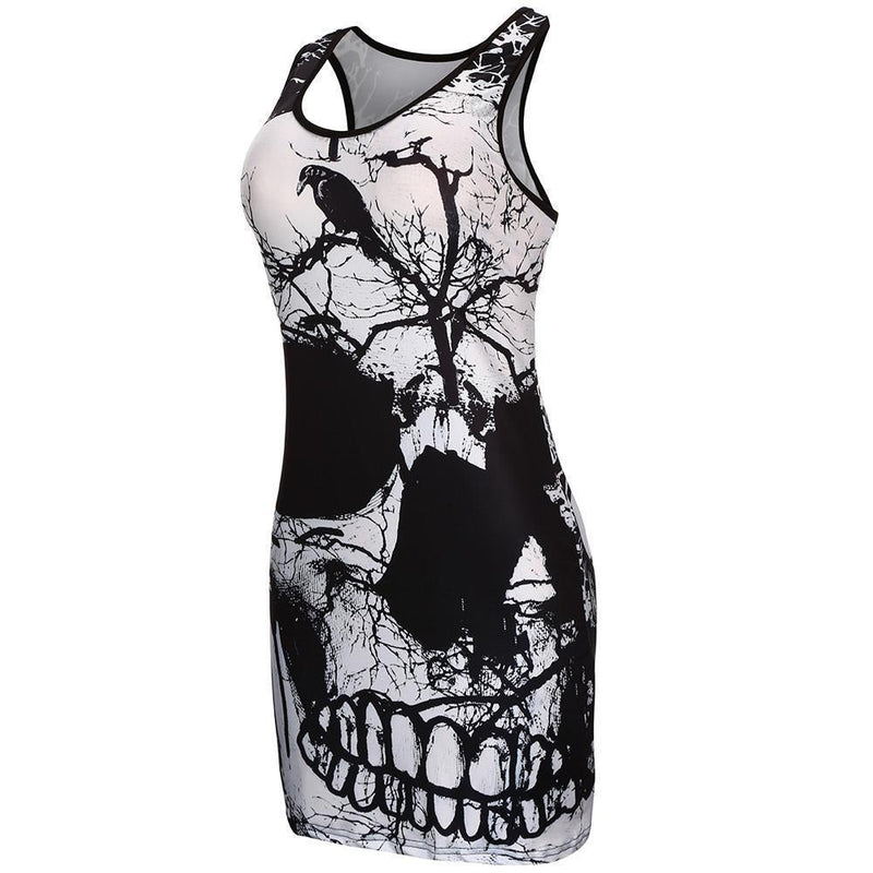 Stunning Scary Skulls Goth Blouse - The Black Ravens