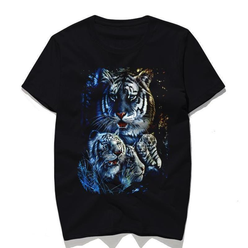Stunning White Tiger Short Sleeve T-Shirt - The Black Ravens