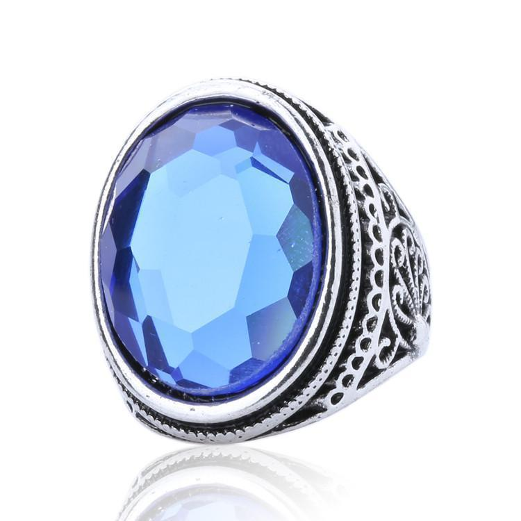 Stunning Women's Luxury Sapphire Gem Rings-7-Blue-