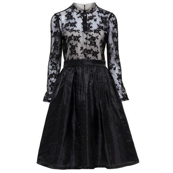 Stylish Patchwork Gothic Retro Dress - The Black Ravens