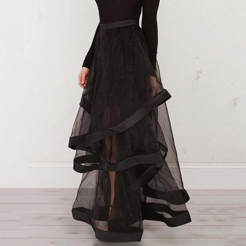 Super Long See-Through Palace Skirt - The Black Ravens