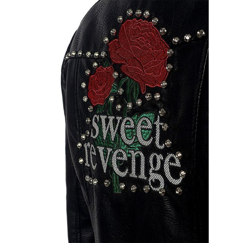 Sweet Revenge Punk Leather Jacket - The Black Ravens