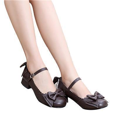 Sweet Tiny Lolita Block Low Heel Shoes - The Black Ravens