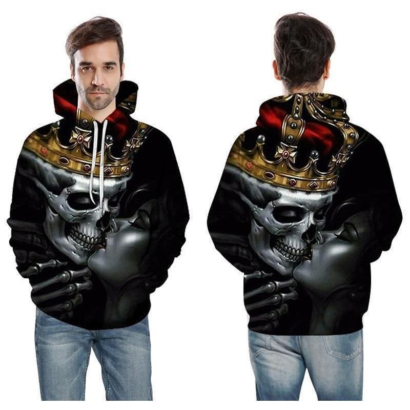 The Prince Of The Undead Hoodie For Guys-Black-XXS-