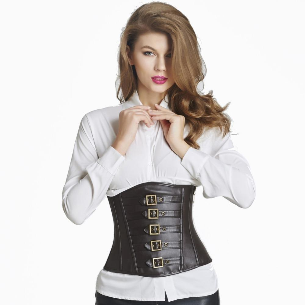 Tight Body Shaping Women's Under Bust Corsets-Black-S-