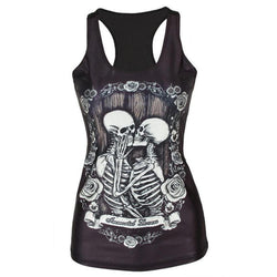 Tight Girls Kissing Skeletons T-Shirt-