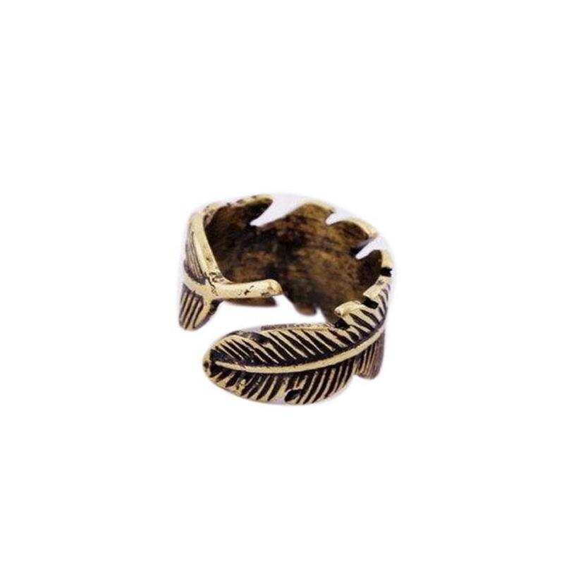Tiny Adjustable Rings With Feathers For Ladies-
